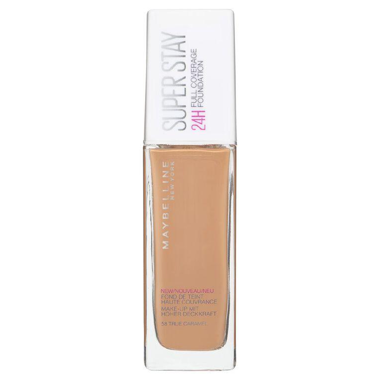 Maybelline SuperStay 24HR Full Coverage Foundation True Caramel 58, , hi-res