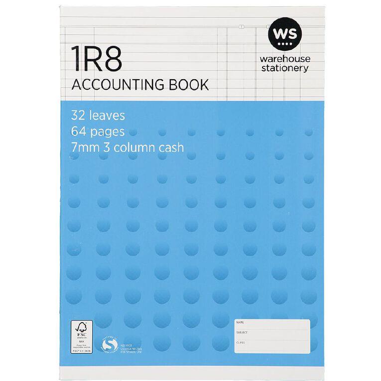 WS Exercise Book 1R8 3 Column Ruled 32 Leaf Blue, , hi-res