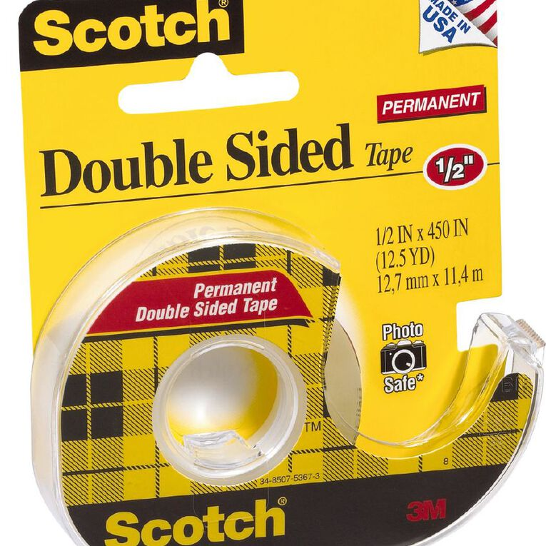 Scotch Double Sided Tape 12.7mm x 11.4m Clear, , hi-res