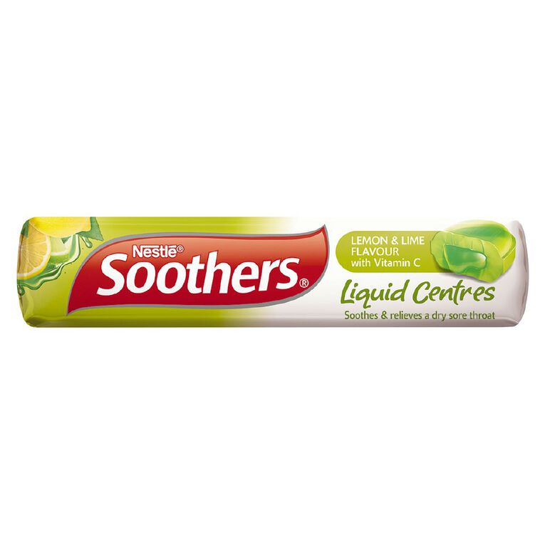 Soothers Liquid Centres Medicated Lozenges Lemon Lime 10s, , hi-res