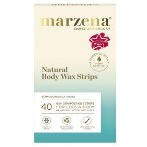 Marzena Bodycare Natural Body Wax Strips 40 Pack