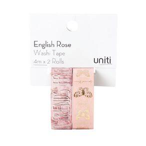 Uniti English Rose Washi Tape 2 pack