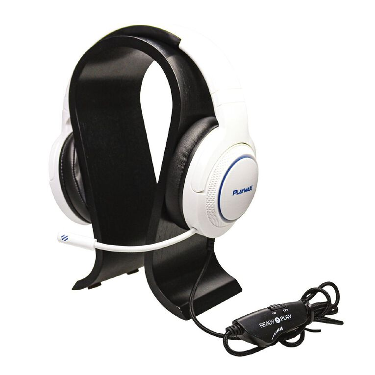 Playmax Wooden Headset Stand Black, , hi-res