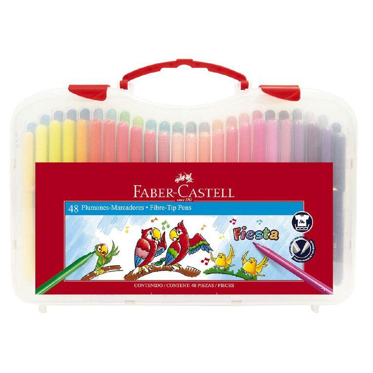 Faber-Castell Fiesta Fibre-tip Pens Plastic Case of 48, , hi-res