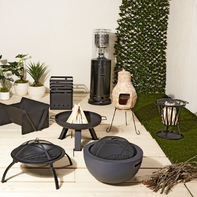 Living & Co Fire Pit with Grill, , hi-res