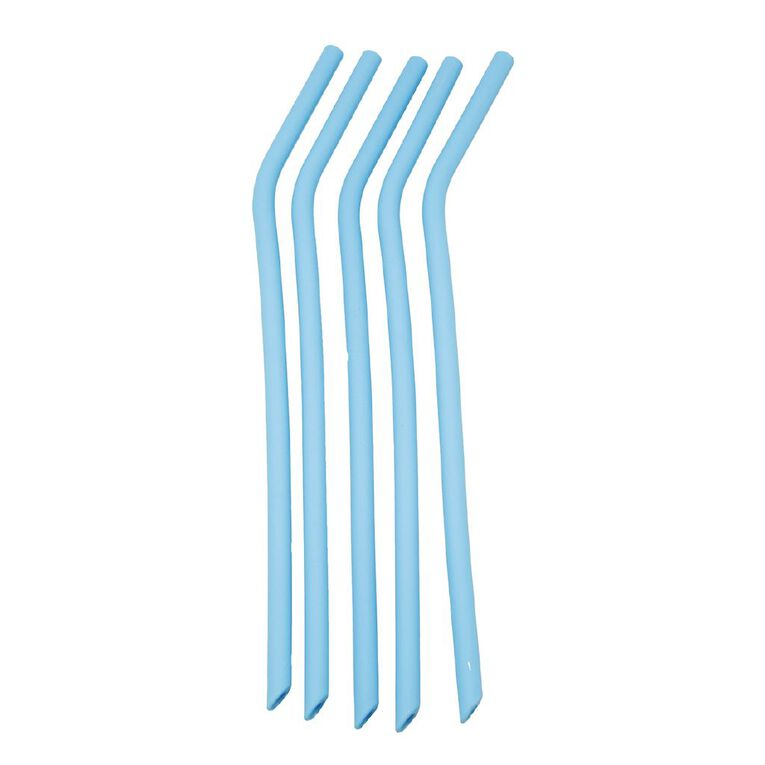 Living Essentials Silicone Straw Set with Brush, , hi-res