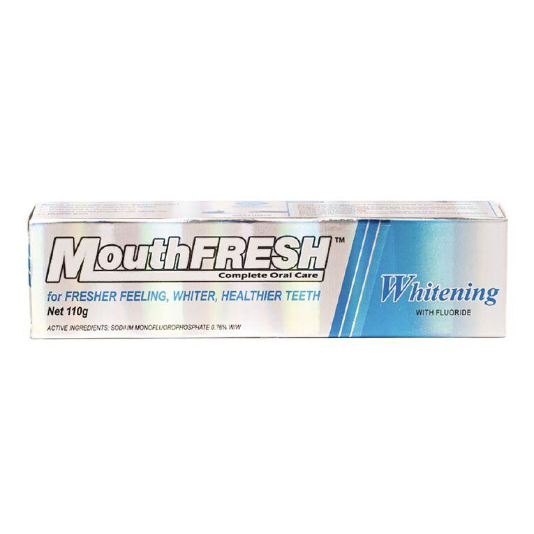 MouthFresh Whitening Toothpaste 110g, , hi-res