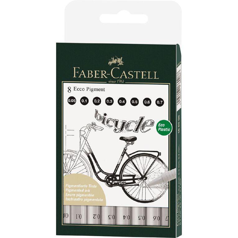 Faber-Castell Ecco Pigment Fibre Tip Pen Wlt (0.1-0.8mm), , hi-res