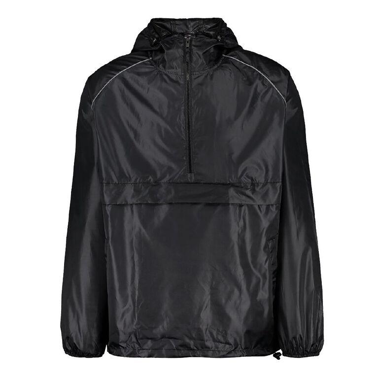 Rivet Anorak in a Bag, Black, hi-res