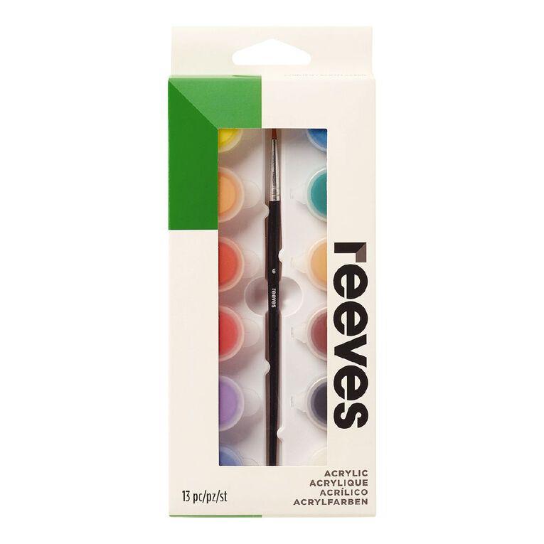 Reeves Acrylic Mini Pot Set 12, , hi-res