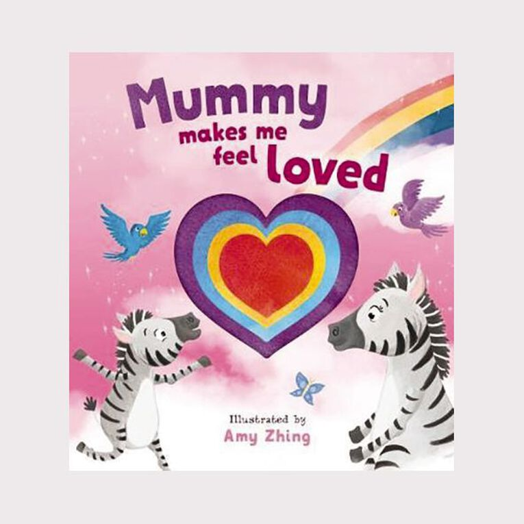 Mummy Makes Me Feel Loved Die Cut Book by Amy Zhing, , hi-res
