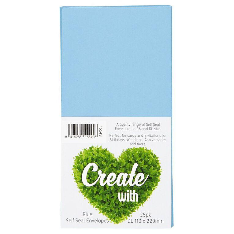 Create With DL Envelope 25 Pack Blue, , hi-res