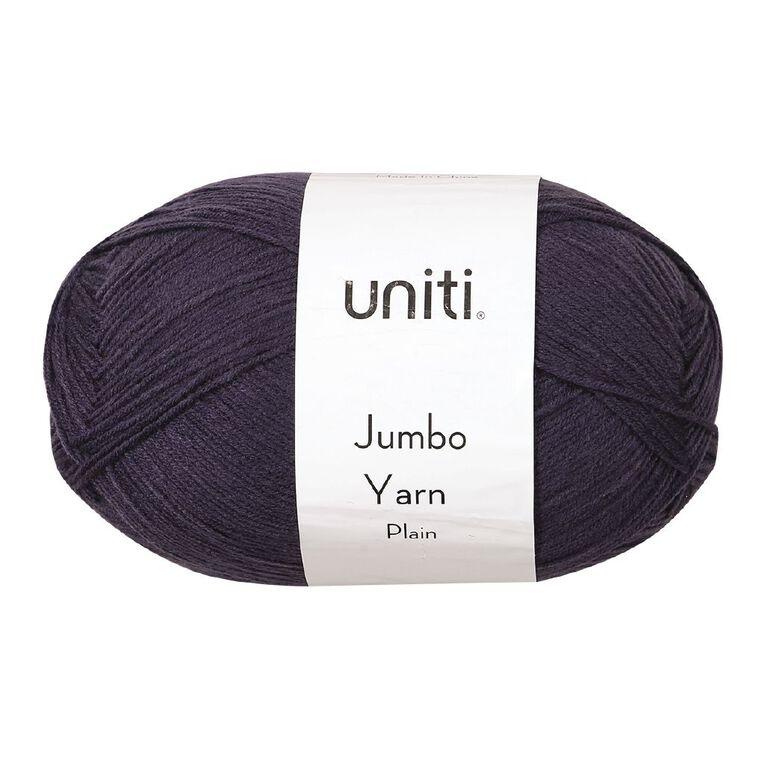 Uniti Yarn Jumbo 8 Ply 300g Charcoal, , hi-res