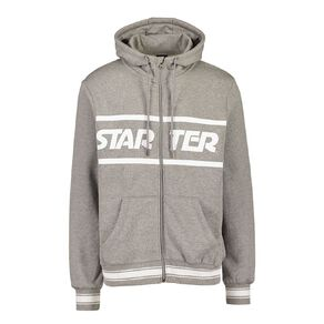 Starter Mens Zip Thru Hooded Sweatshirt