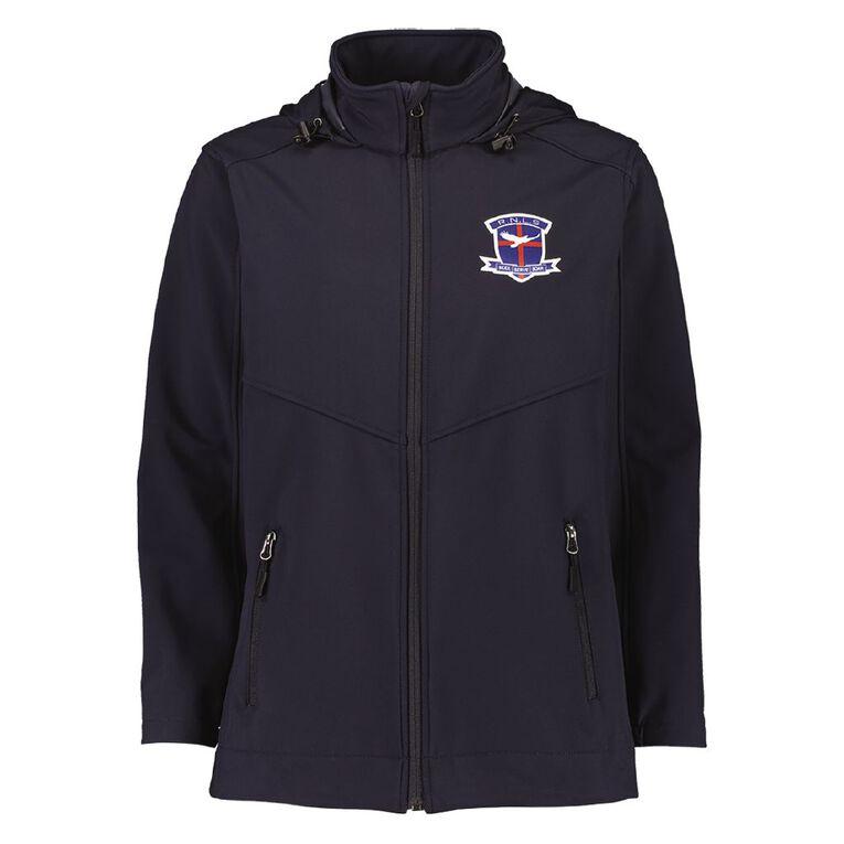 Schooltex Rangiora New Life Softshell Jacket with Badge, Navy, hi-res