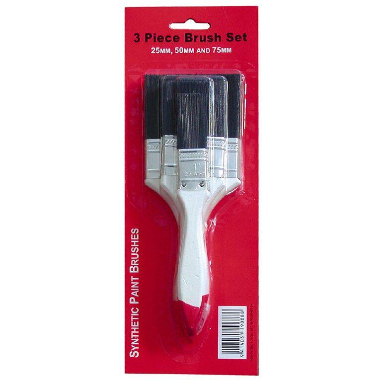 Eco Syn Brush 3pk 255075mm White, , hi-res
