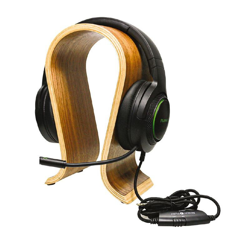 Playmax Wooden Headset Stand Natural, , hi-res