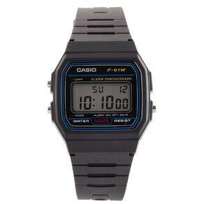 Casio Digital Watch Black F-91W-1