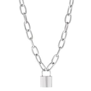 Stainless Steel Lock Necklace