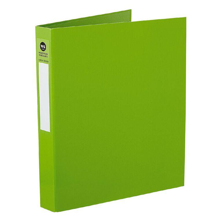 WS Ringbinder 2D 25mm Green A4, , hi-res