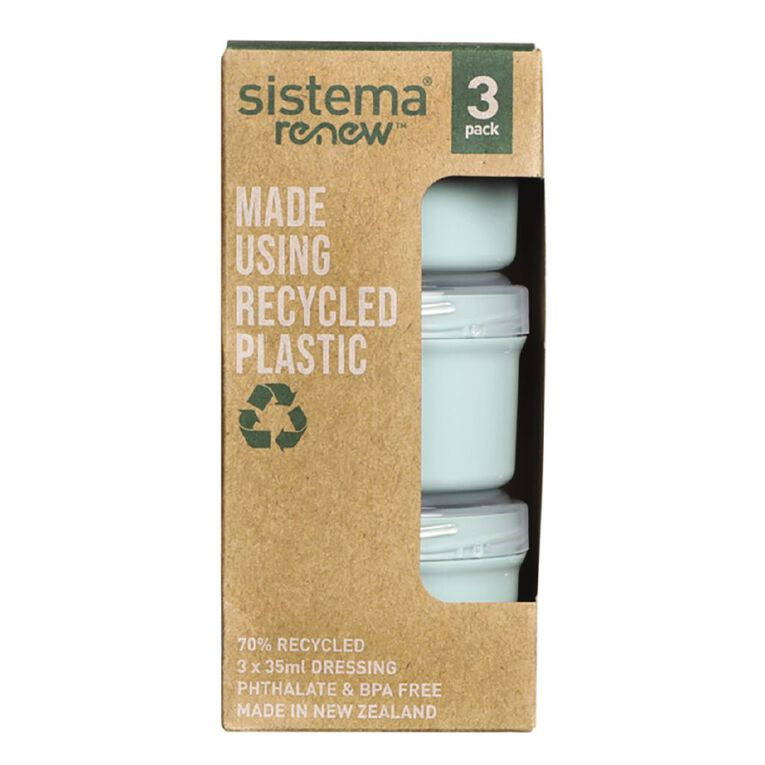 Sistema Dressing to Go Renew 3 Pack Assorted 35ml, , hi-res