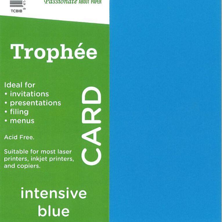 Trophee Card 160gsm 100 Pack Intensive Blue A4, , hi-res