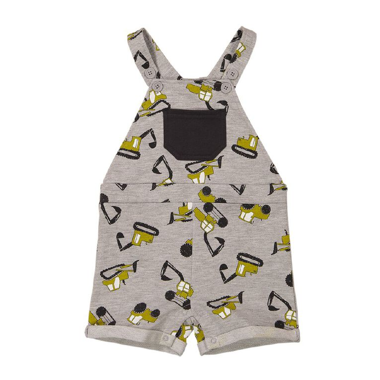 Young Original Baby Printed Overall, Grey Mid, hi-res