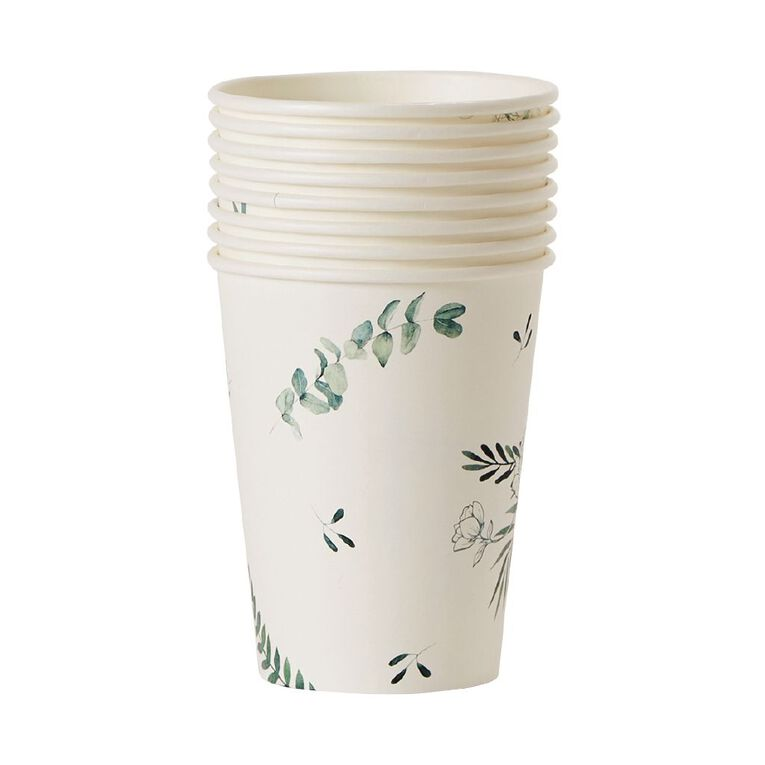 Party Inc Leaf Cups 250ml 8 Pack, , hi-res