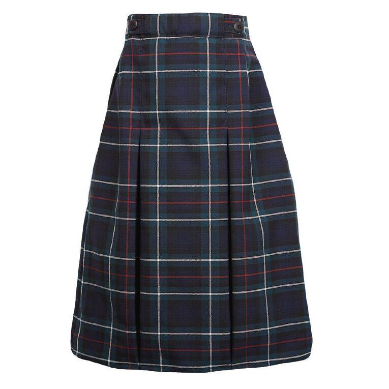 Schooltex Double Inverted Pleat Skirt, Schooltex Tartan TRT011 PW, hi-res