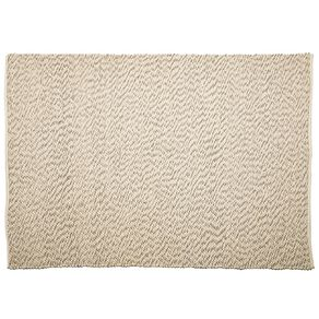Living & Co Wool Pile Pebble Area Rug Natural 160cm x 230cm