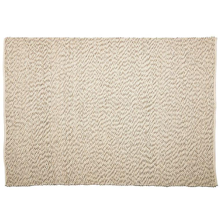 Living & Co Wool Pile Pebble Area Rug Natural 160cm x 230cm, Natural, hi-res