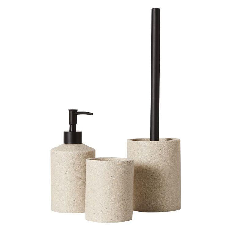Living & Co Toilet Brush Set Stonelook Cream, , hi-res image number null