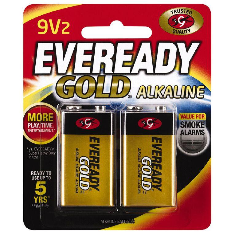 Eveready Gold Batteries 9 Volt 2 Pack, , hi-res