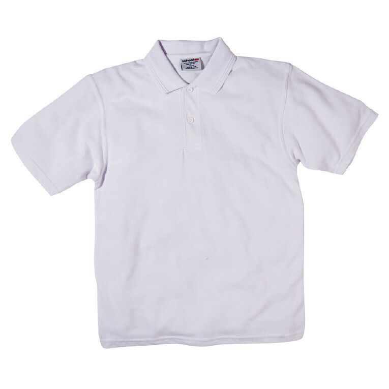 Schooltex Kids' Pique Polo, White, hi-res