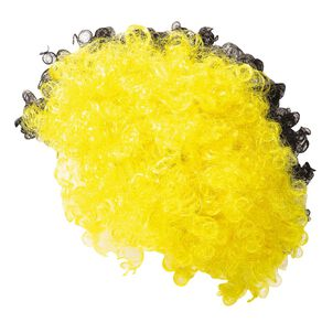 Party Inc Supporters Wig 110g Yellow/Black