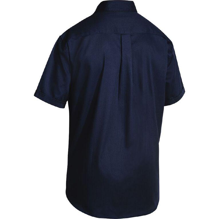 Bisley Workwear Short Sleeve Shirt, Navy, hi-res