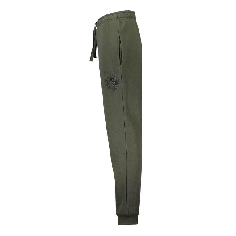 Young Original Print Leg Trackpants, Green Mid, hi-res