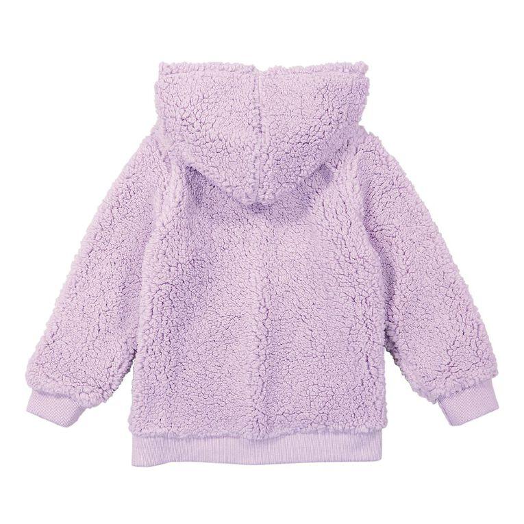 Young Original Sherpa Pull Over Hooded Sweatshirt, Purple Light, hi-res