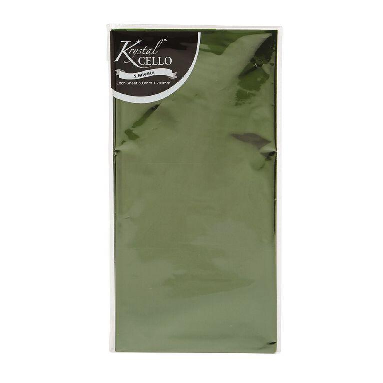 Cellophane 500mm x 700mm 2 Pack Green, , hi-res