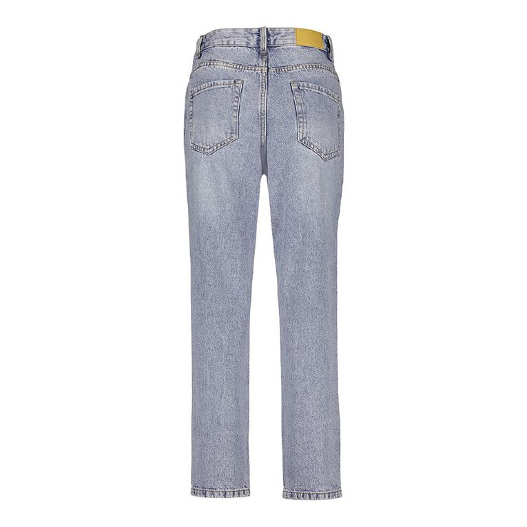 H&H Women's Mom Jeans, Denim Mid, hi-res