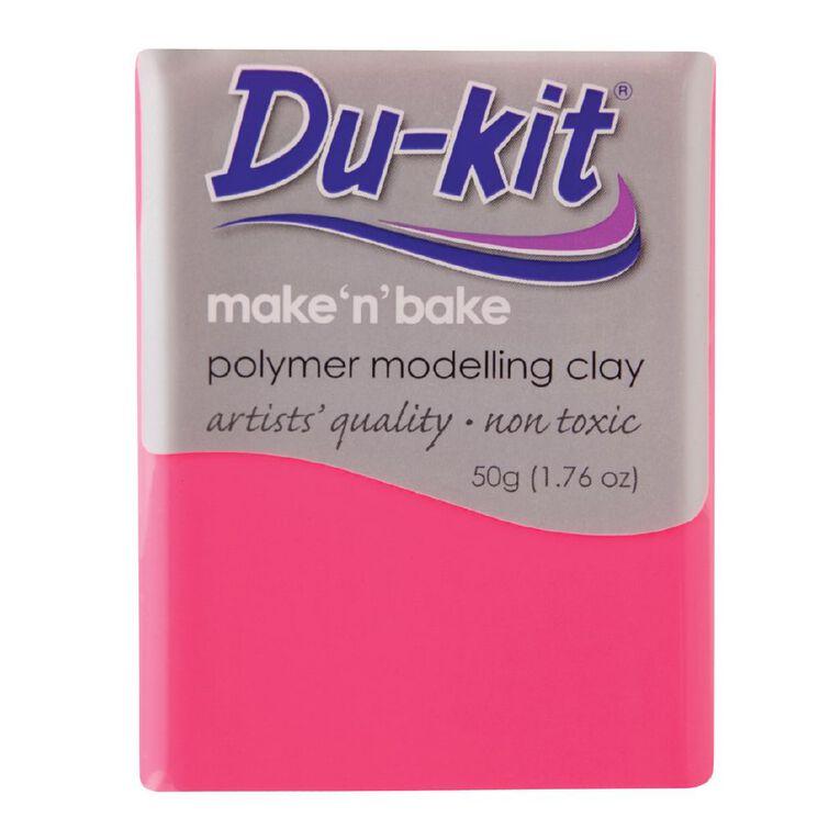 Du-kit Clay Fluoro Pink 50g, , hi-res