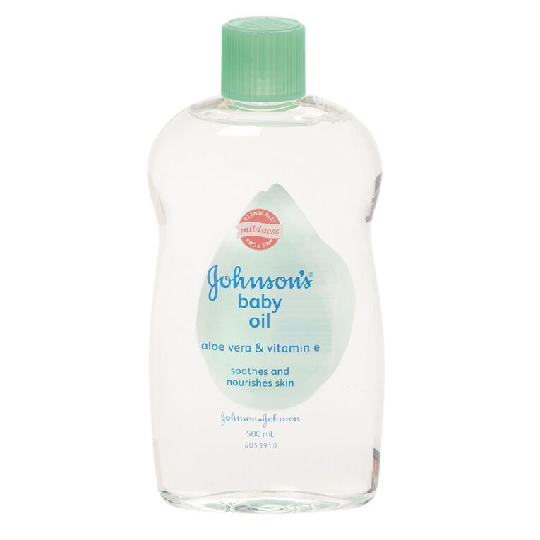Johnson's Baby Oil with Aloe 500ml, , hi-res