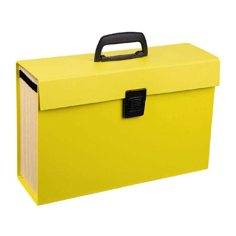 WS Concertina File 19 Pocket Yellow, , hi-res