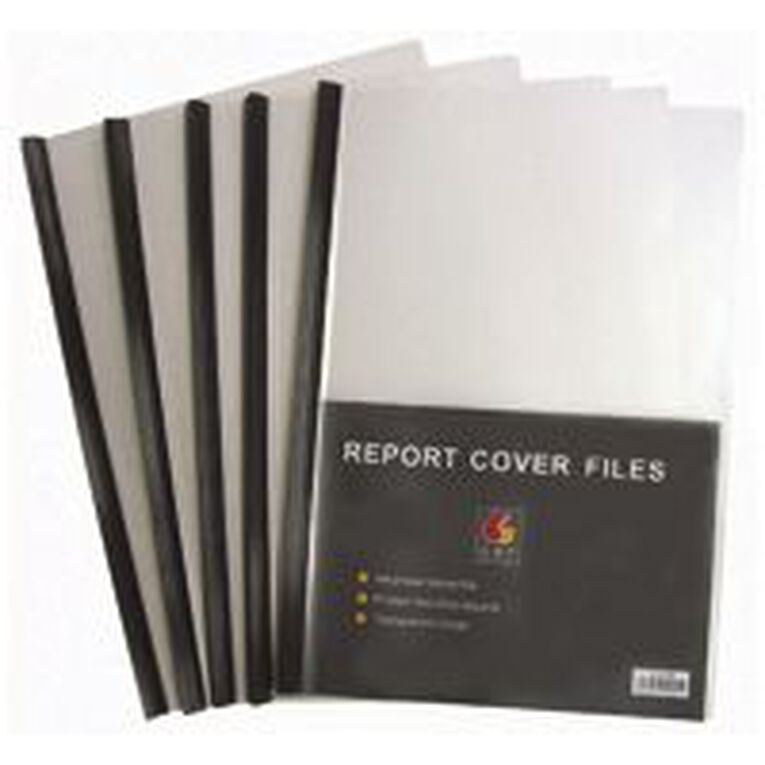 GBP Stationery Report Covers 5 Pack Black A4, , hi-res