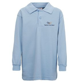 Schooltex Tapawera Area Long Sleeve Polo with Embroidery