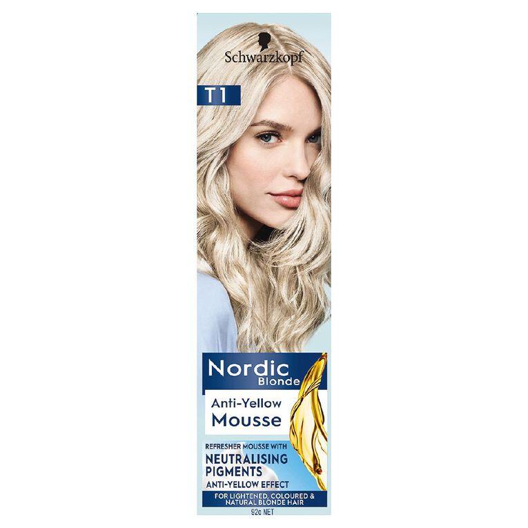 Schwarzkopf Nordic Blonde T1 Anti-Yellow Mousse, , hi-res