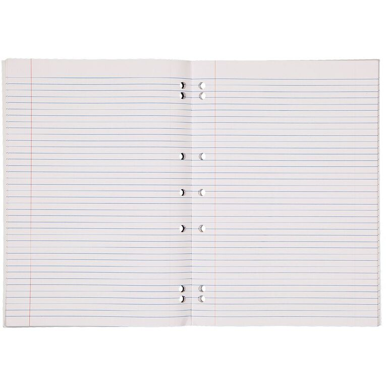 WS Exercise Book 1B8 7mm Ruled 36 Leaf Punched Red, , hi-res