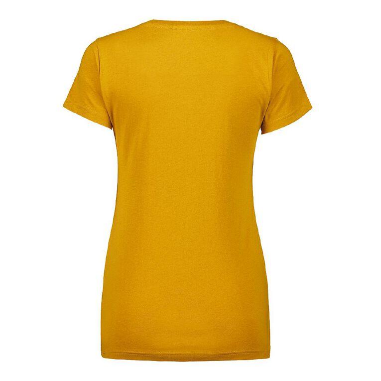 H&H Women's V-Neck Tee, Yellow Mid, hi-res