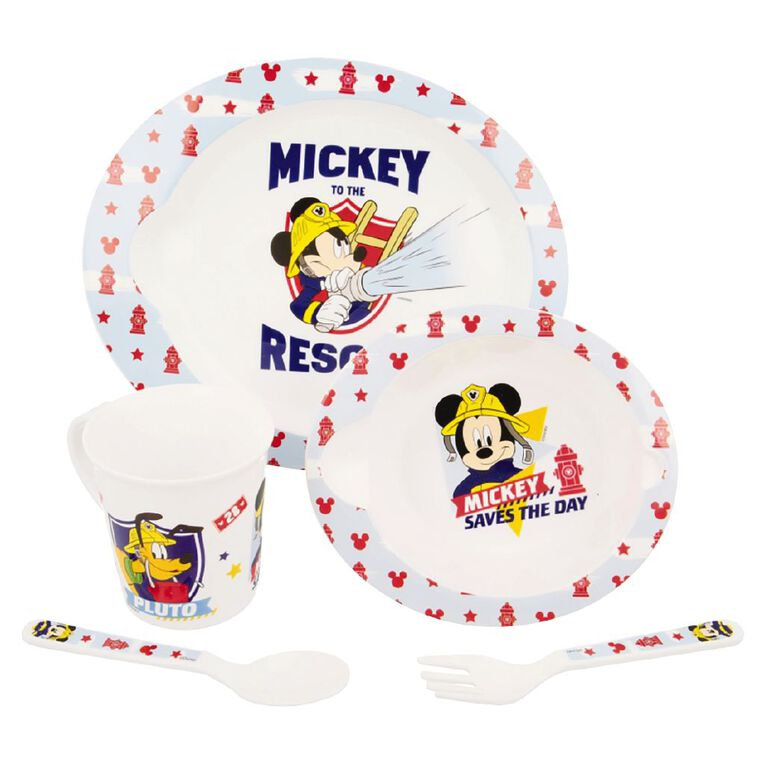 Mickey Mouse Zak! Licensed Mickey Mouse 5pc Feeding Set, , hi-res