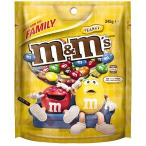 M&M's Peanut Chocolate Family Bag 345g